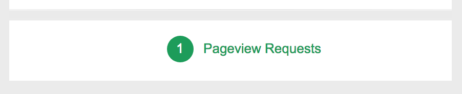 Google Tag Assistant successful pageview request