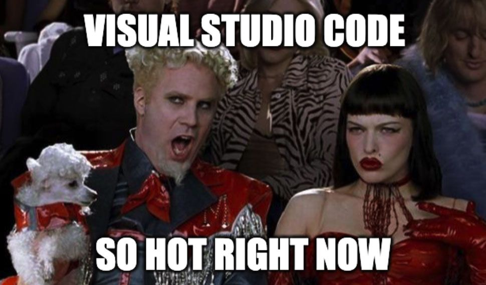 Visual Studio Code is so hot right now